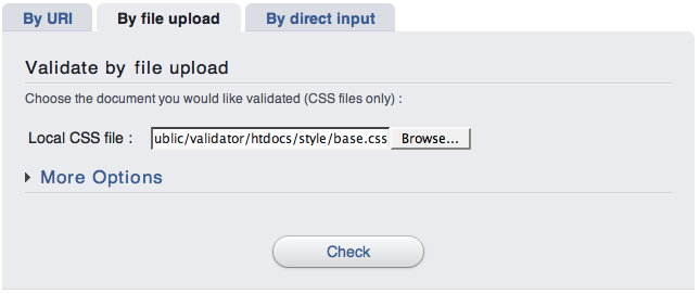 Validation by File Upload